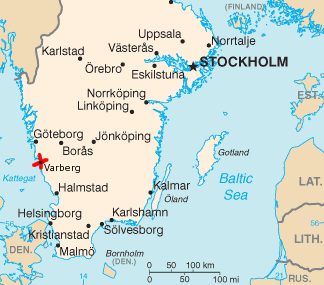a map of sweden